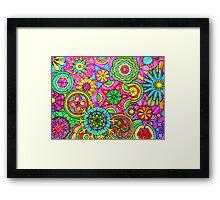 WONDER COLOR WHEELS kaleidoscopes Framed Print