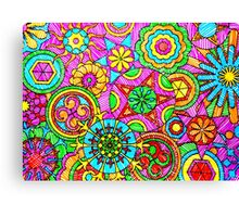 WONDER COLOR WHEELS kaleidoscopes Canvas Print