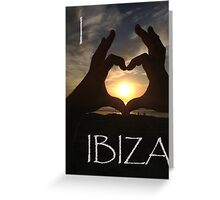 I Heart Ibiza Greeting Card