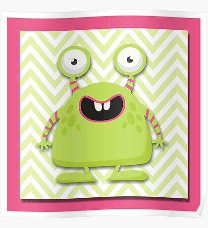 Cute Silly Monster Thing Poster