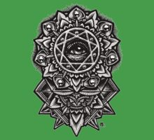 Eye of God Flower Mandala One Piece - Short Sleeve