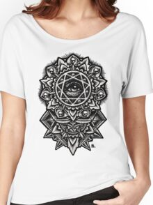Eye of God Flower Mandala Women's Relaxed Fit T-Shirt