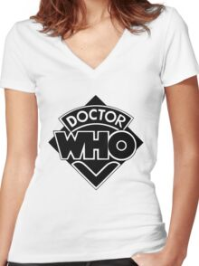 dr. who Women's Fitted V-Neck T-Shirt