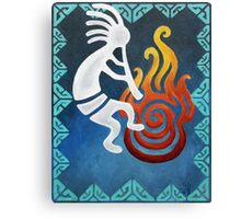 Kokopelli Blue Acrylic Set Canvas Print