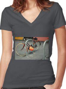 Inner City Schwinn Suburban Women's Fitted V-Neck T-Shirt