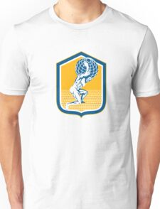 Atlas Carrying Globe on Shoulder Shield Retro Unisex T-Shirt