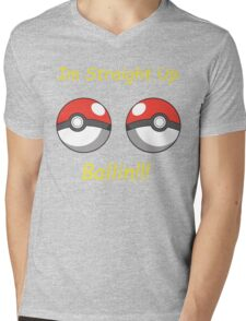 Pokemon Ballin Mens V-Neck T-Shirt