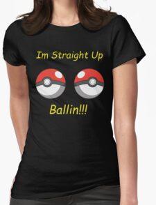 Pokemon Ballin Womens Fitted T-Shirt