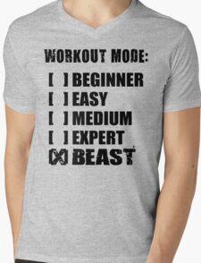 Workout Mode - BEAST Mens V-Neck T-Shirt