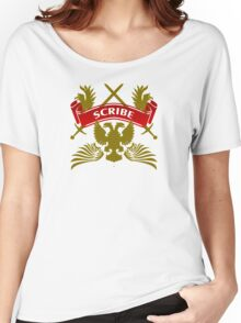 The Scribe Coat-of-Arms Women's Relaxed Fit T-Shirt