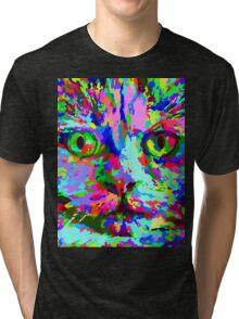 Pop Art Kitten Tri-blend T-Shirt