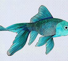 Blue Goldfish by Vicky Pratt