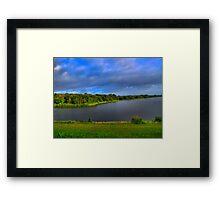 Texas Lake in HDR Framed Print