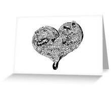 Heart Full graffiti love Greeting Card