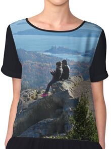 Cadillac Mountain Love Chiffon Top