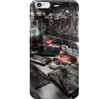 Bicycle Nostalgia in Red iPhone Case/Skin