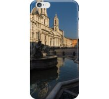 Shadow and Light - Piazza Navona in Rome, Italy  iPhone Case/Skin