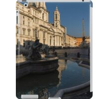 Shadow and Light - Piazza Navona in Rome, Italy  iPad Case/Skin