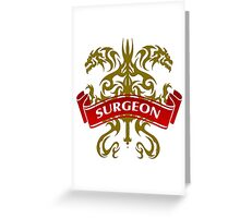 The Surgeon Coat-of-Arms Greeting Card
