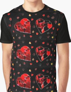 2 hearts Graphic T-Shirt