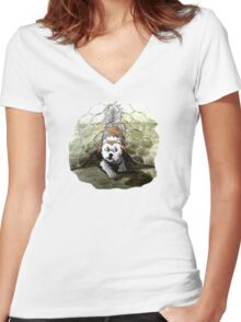 The Great Escape! Women's Fitted V-Neck T-Shirt