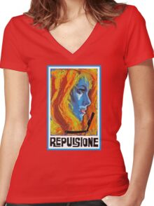 Repulsion  Women's Fitted V-Neck T-Shirt