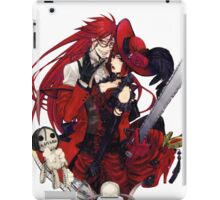 grell and madam red together  iPad Case/Skin