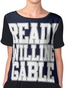 Ready Willing & Gable Chiffon Top