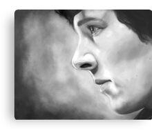 Sherlock - A Study In Pink - Black & White Metal Print