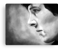 Sherlock - A Study In Pink - Black & White Canvas Print