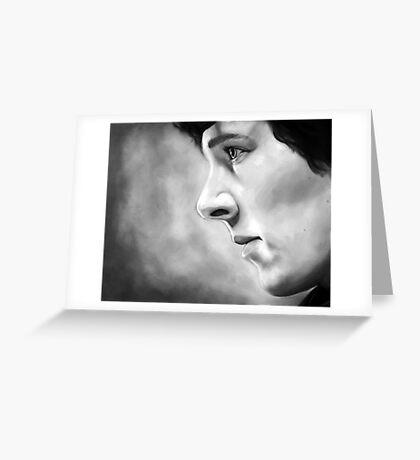 Sherlock - A Study In Pink - Black & White Greeting Card