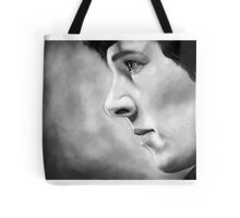 Sherlock - A Study In Pink - Black & White Tote Bag