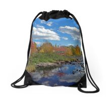 Fall In Small Town Maine Drawstring Bag