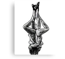 Two suspended yoga teachers  Canvas Print