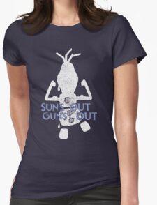 Summer workout Womens Fitted T-Shirt