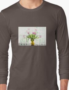 Pink Tulips In The Window Long Sleeve T-Shirt