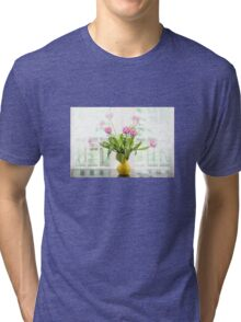 Pink Tulips In The Window Tri-blend T-Shirt