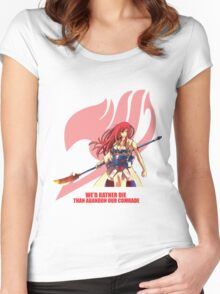 Erza Scarlet - Fairy Tail Women's Fitted Scoop T-Shirt