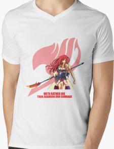 Erza Scarlet - Fairy Tail Mens V-Neck T-Shirt
