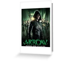 ARROW HEROES AND VILLAINS Greeting Card
