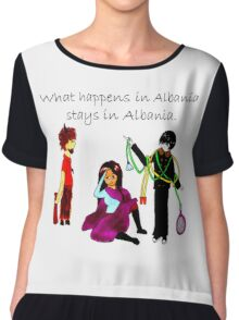 What Happens in Albania Stays in Albania Chiffon Top