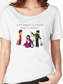 What Happens in Albania Stays in Albania Women's Relaxed Fit T-Shirt