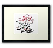 inori beautiful from guilty crown Framed Print