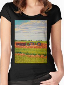 Landscape Pipeline Women's Fitted Scoop T-Shirt