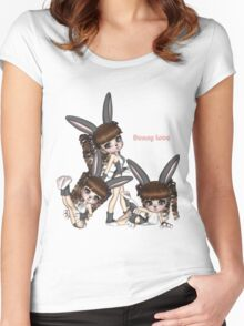 Bunny Love Triplets Women's Fitted Scoop T-Shirt