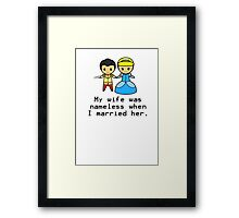 Nameless Marriage Framed Print