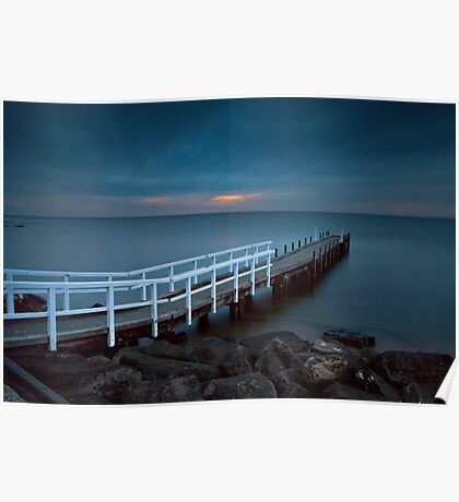Olivers Hill, Frankston Victoria Australia on a Cloudy sunset.  Poster