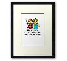 Sleep Kissing is Non-consensual  Framed Print