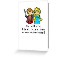 Sleep Kissing is Non-consensual  Greeting Card