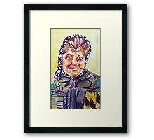 Newcastle Busker Acrylic on Canvas Framed Print